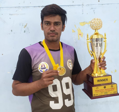 Rajasthan's American football team won gold in the national championship
